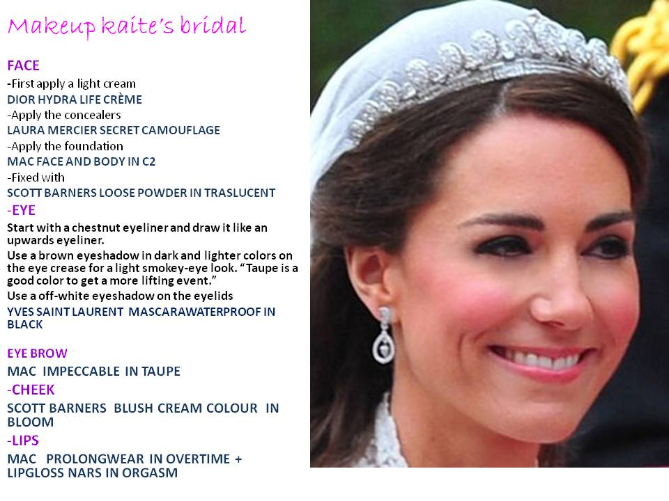 Kate Middletons Royal wedding makeup Aloha Kailus Blog